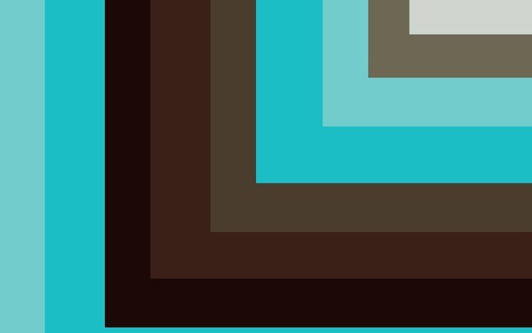 abstraction, line, material, geometry, brown, turquoise