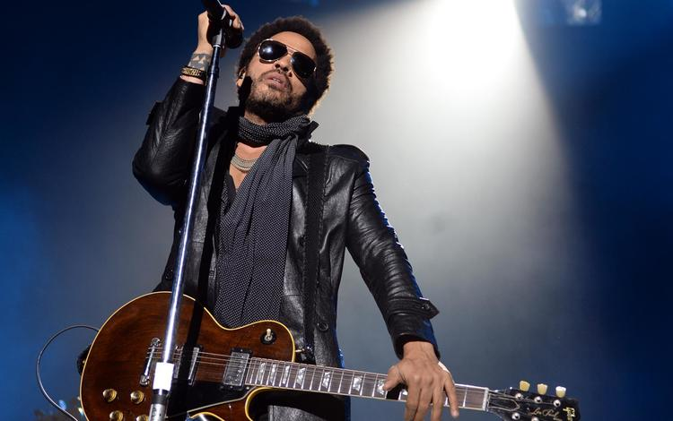 guitar, concert, musician, leather jacket, lenny kravitz