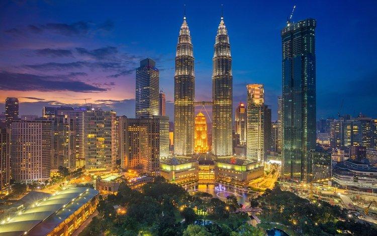 panorama, the city, skyscrapers, tower, home, malaysia, kuala lumpur