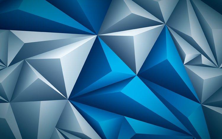 art, mosaic, creative, geometry, triangles, 3d