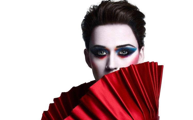 style, girl, look, hair, face, white background, singer, makeup, katy perry
