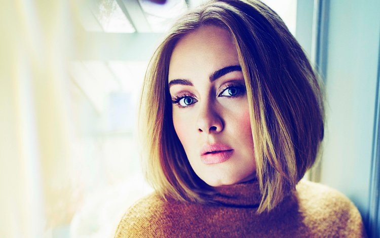 girl, portrait, look, hair, face, singer, makeup, adele