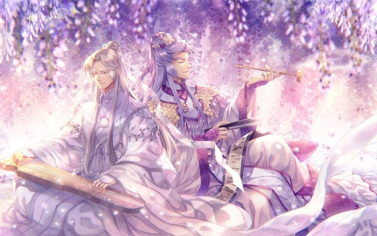 anime, magical girl, instrument, capura, lin, anime boys, traditional chinese clothes