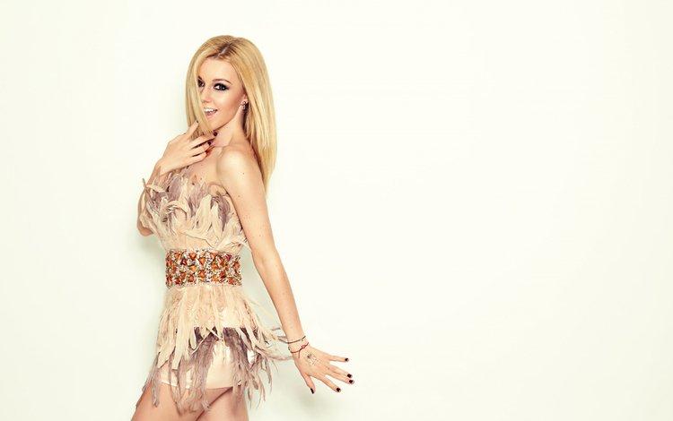 girl, dress, blonde, music, yulianna karaulova, julianna karaulova