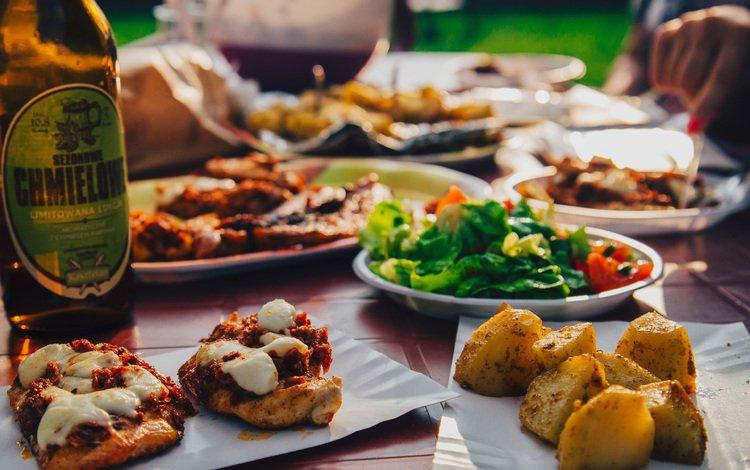 food, bottle, beer, alcohol, meals