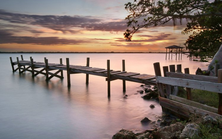 river, sunset, pierce, coast, usa, marina, florida, jill bazeley, merritt island