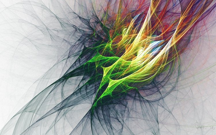 арт, абстракция, узор, разноцветные, фрактал, сплетение, art, abstraction, pattern, colorful, fractal, plexus