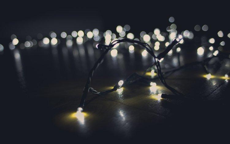 свет, блики, гирлянда, light, glare, garland