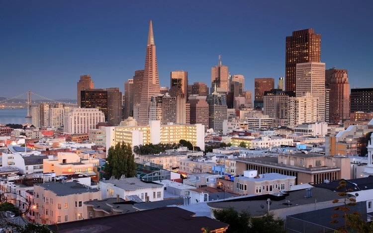the city, skyscrapers, home, usa, san francisco, ca