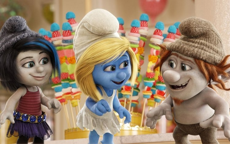 мультфильм, смурфики, cartoon, the smurfs