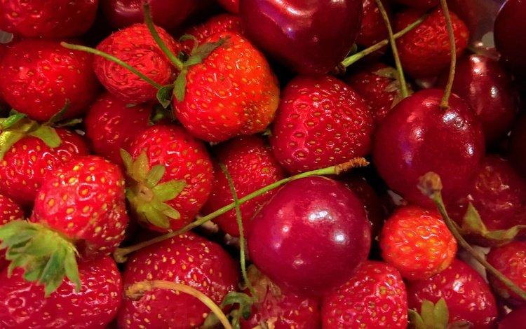 лето, еда, фрукты, клубника, радость, ягоды, вишня, сладкий вкус, summer, food, fruit, strawberry, joy, berries, cherry, sweet taste