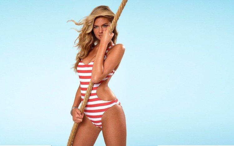 блондинка, модель, браслет, канат, купальник, кейт аптон, blonde, model, bracelet, rope, swimsuit, kate upton