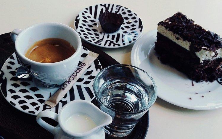 кофе, ядро, молоко, бисквит, пирожное, coffee, -, milk, biscuit, cake