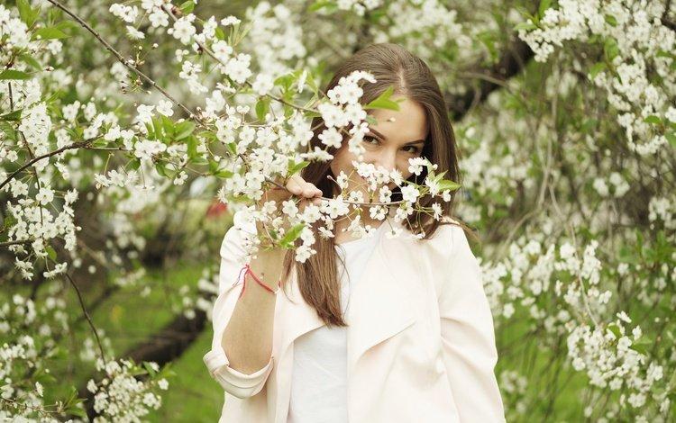 flowering, look, model, hair, face, nastya
