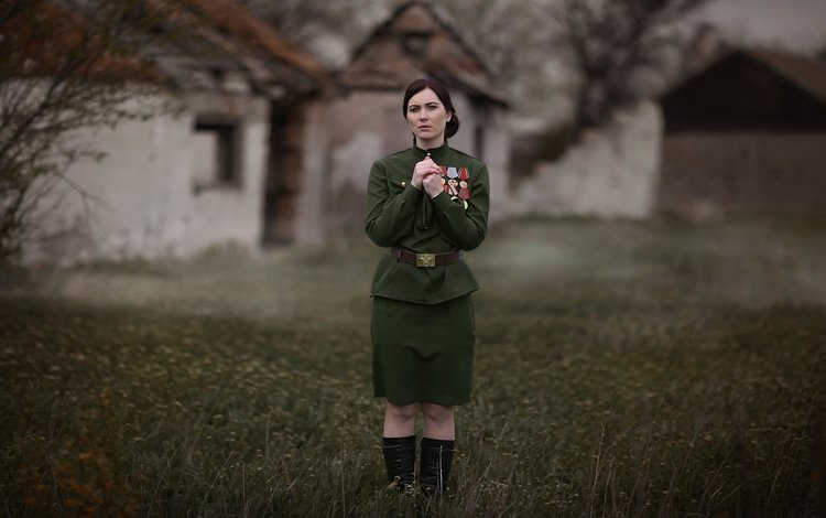 girl, victory day, awards, the great patriotic war, may 9, tunic