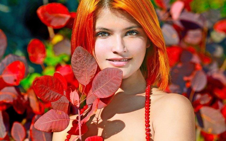девушка, взгляд, рыжая, модель, волосы, губы, лицо, violla a, violla, girl, look, red, model, hair, lips, face