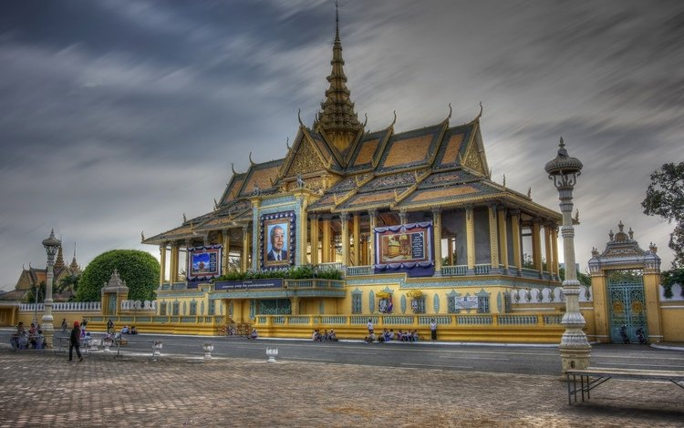palace, cambodia, phnom penh, the palace of the king