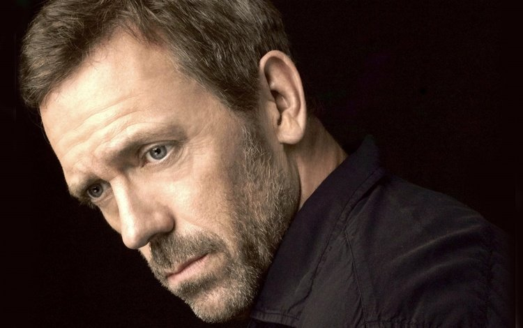 eyes, look, actor, face, hugh laurie, bristles