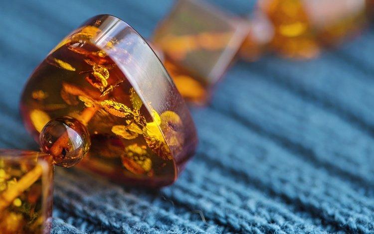 macro, beads, amber, amber beads