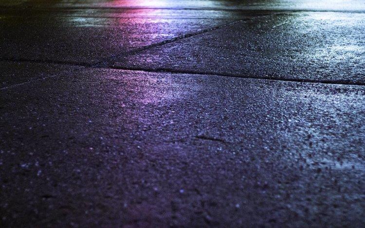 night, lights, asphalt, night city