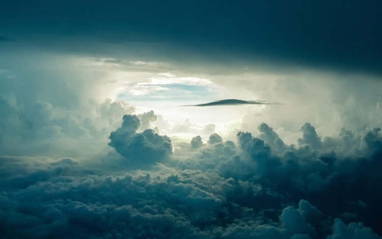 the sky, clouds, nature, white clouds