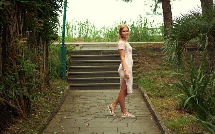 платье, лето, взгляд, волосы, лицо, маша, dress, summer, look, hair, face, masha