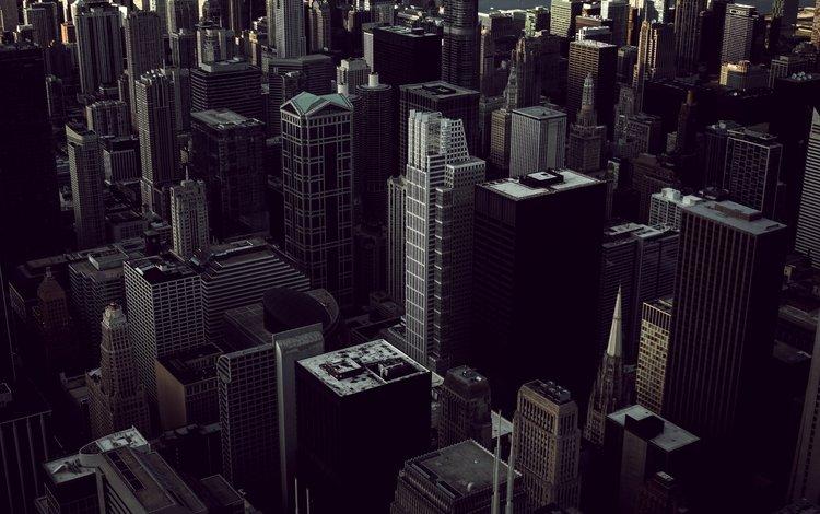 вид сверху, небоскребы, сша, здания, чикаго, the view from the top, skyscrapers, usa, building, chicago