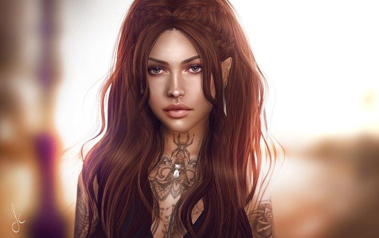 волосы, лицо, hair, face