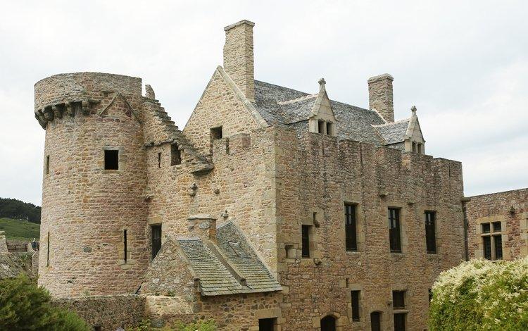 замок, здание, франция, форт-ла-латт, castle, the building, france, fort la latte