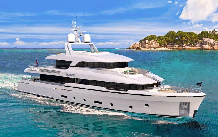 sea, yacht, island, tropics, seychelles