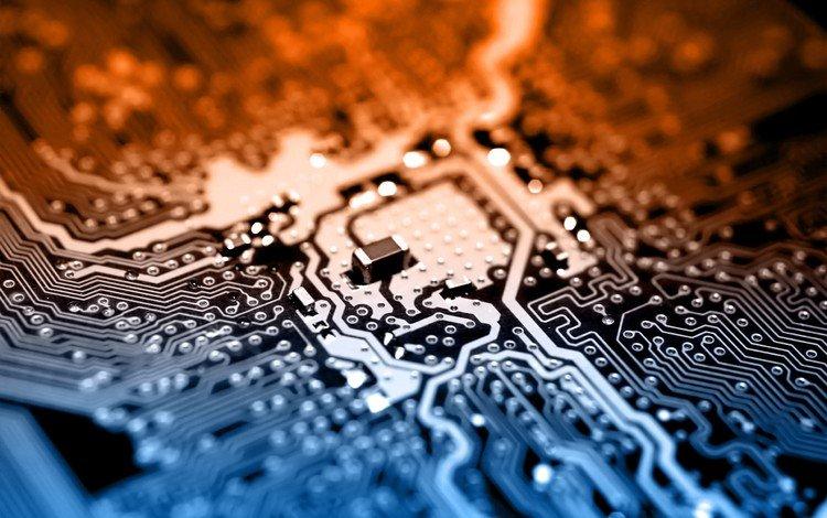плата, дорожки, компьютер, микросхема, процессор, электронная плата, fee, track, computer, chip, processor, electronic board