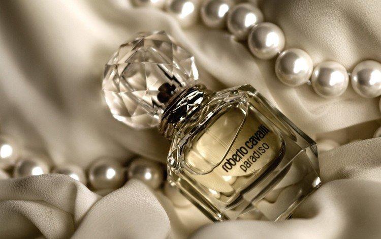 ткань, ожерелье, духи, флакон, fabric, necklace, perfume, bottle