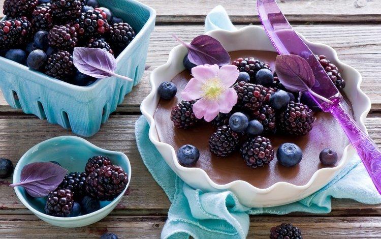 ягоды, черника, посуда, ежевика, berries, blueberries, dishes, blackberry