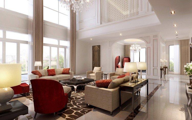 интерьер, вилла, роскошная, white living room, interior, villa, luxury
