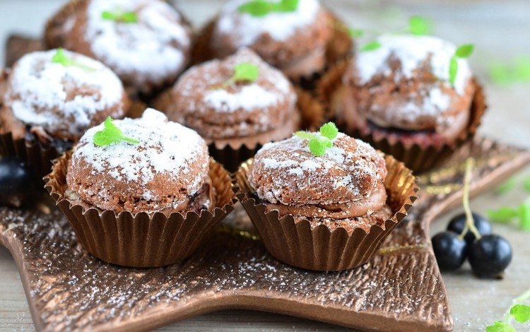 шоколад, выпечка, смородина, кекс, chocolate, cakes, currants, cupcake