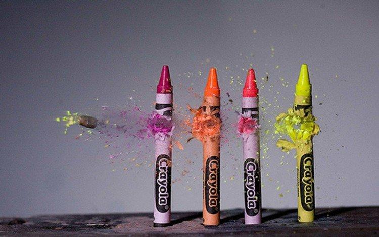 разноцветные, карандаши, цветные, пуля, окрас, макросьемка, мелки, colorful, pencils, colored, bullet, color, microsemi, crayons