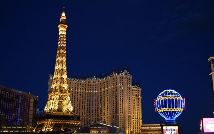 ночь, город, башня, мегаполис, небоскрёб, лас вегас, гостиница, night, the city, tower, megapolis, skyscraper, las vegas, the hotel