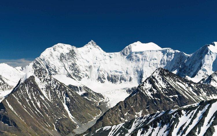 горы, снег, природа, вершины, высота, mountains, snow, nature, tops, height