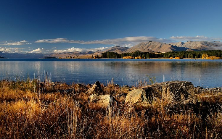облака, горизонт, вода, новая зеландия, озеро, горы, природа, берег, пейзаж, море, clouds, horizon, water, new zealand, lake, mountains, nature, shore, landscape, sea