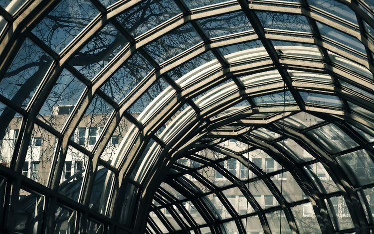 город, фасад, архитектура, свод, здание, дюссельдорф, окна, стекло, крыша, германия, купол, the city, facade, architecture, arch, the building, dusseldorf, windows, glass, roof, germany, the dome