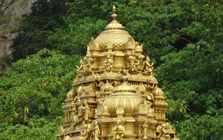 храм, пагода, башня, здание, купол, малайзия, temple, pagoda, tower, the building, the dome, malaysia