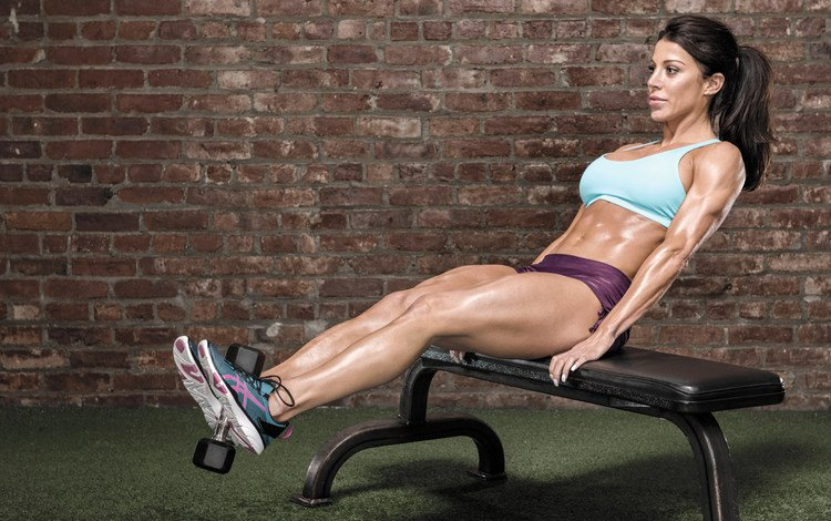 girl, pose, sport, bench, press, fitness, sports wear, training, workout