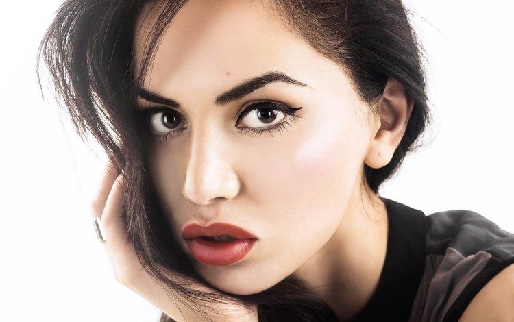 девушка, макияж, портрет, знаменитость, брюнетка, diipa khosla, дивья кхосла, модель, волосы, губы, лицо, актриса, girl, makeup, portrait, celebrity, brunette, divya khosla, model, hair, lips, face, actress