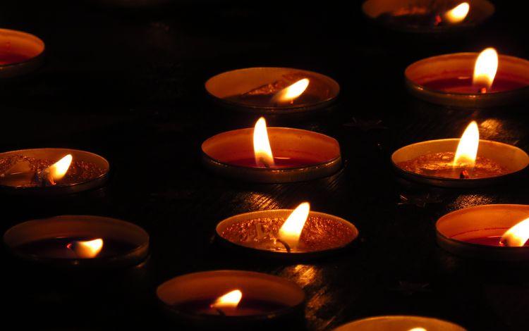 свет, свечи, пламя, огонь, черный фон, свечки, light, candles, flame, fire, black background, candle