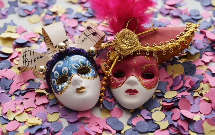 праздник, маски, карнавал, конфетти, holiday, mask, carnival, confetti