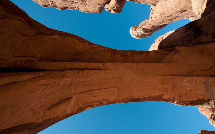 небо, скалы, пейзаж, каньон, юта, национальный парк арки, the sky, rocks, landscape, canyon, utah, arches national park