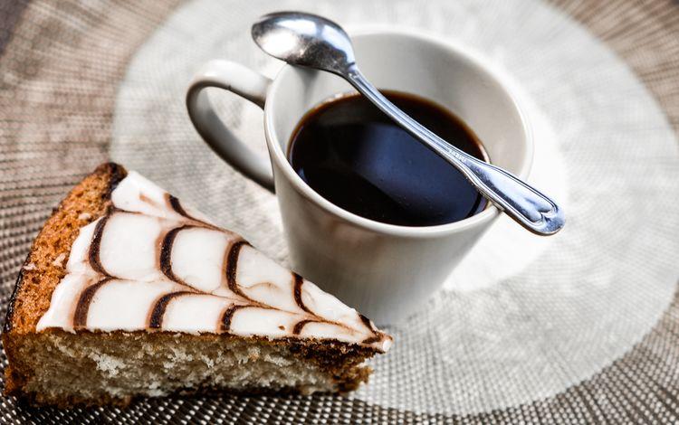 напиток, кофе, чашка, десерт, ложка, пирожное, эспрессо, тортик, drink, coffee, cup, dessert, spoon, cake, espresso