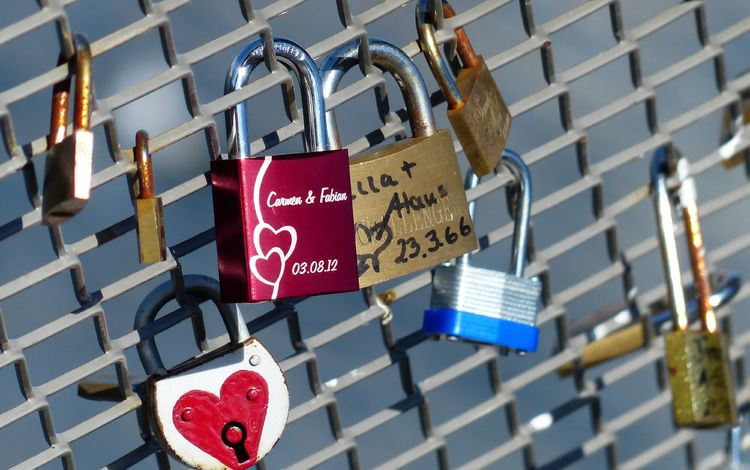замок, забор, сетка, символ, любовь, решетка, замки, castle, the fence, mesh, symbol, love, grille, locks