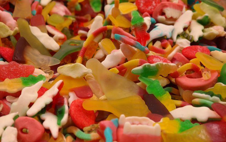 разноцветные, конфеты, сладкое, мармелад, жевательный мармелад, colorful, candy, sweet, marmalade, gummies