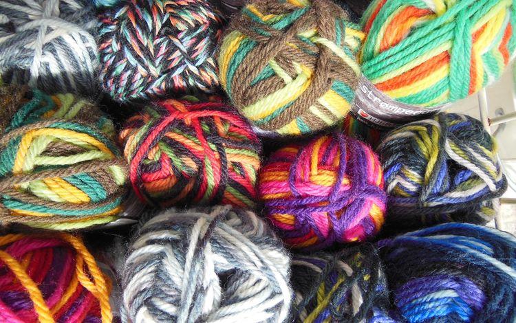 разноцветные, нитки, вязание, пряжа, рукоделие, мотки, colorful, thread, knitting, yarn, needlework, hanks